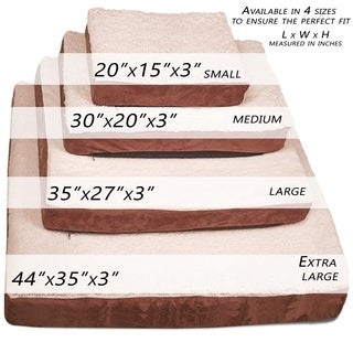 Paws & Pals Premium Orthopedic Foam Ultra-Soft Faux Fur Suede Pet Bed (4 options available)