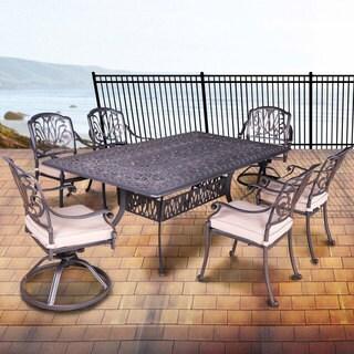 Gracewood Hollow Budi Aluminum 7-piece Cushioned Outdoor Dining Set