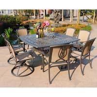 Gracewood Hollow Budi Sling Gunmetal Grey Aluminum 9-piece Dining Set with 64-inch Table