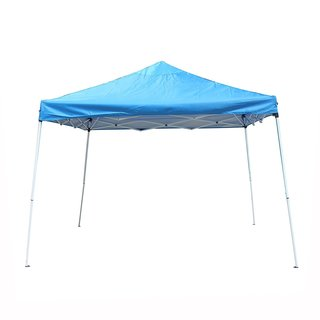 ALEKO 12'x12' Easy Pop Up Outdoor Collapsible Blue Gazebo Canopy Tent