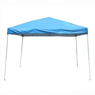 ALEKO 10'x10' Easy Pop Up Outdoor Collapsible Blue Gazebo Canopy Tent