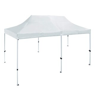 ALEKO 10 X 20 ft Outdoor Party Waterproof White Gazebo Tent Canopy