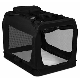 Paws & Pals Dog Crate Soft-Sided Pet Carrier - Foldable Portable Soft