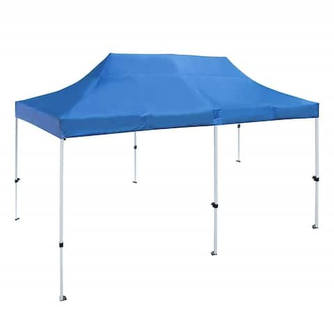 ALEKO 10 X 20 ft Outdoor Party Waterproof Blue Gazebo Tent Canopy