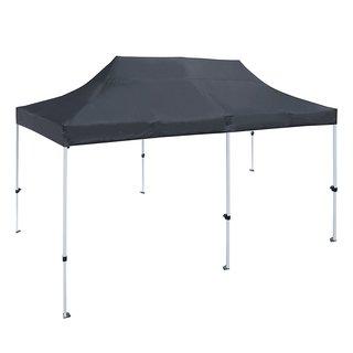 ALEKO 10 X 20 ft Outdoor Party Waterproof Black Gazebo Tent Canopy