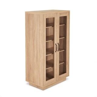 ACME Glines Shoe Cabinet in Weathered Light Oak