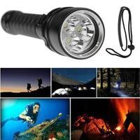 10000Lumen 3x LED Diving Flashlight Torch Lamp Underwater Max 100M