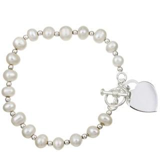 Sterling Silver 6-inch Freshwater Pearl Child's Bracelet