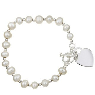 Sterling Silver 6-inch Freshwater Pearl Child's Bracelet