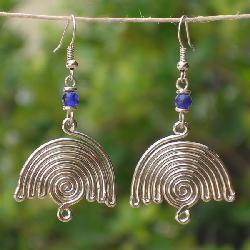 Balance Silver Plated Earrings (Kenya) - Thumbnail 2