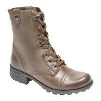 Women's Rockport Cobb Hill Bethany Boot Grey Smooth Leather