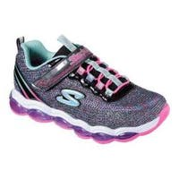 Girls' Skechers S Lights Air Lites Sneaker Black/Multi