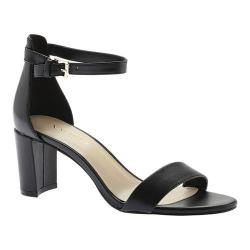 Women's Nine West Pruce Ankle Strap Sandal Black Leather