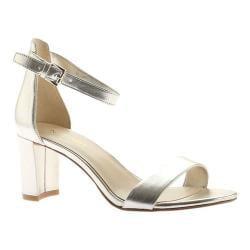 Women's Nine West Pruce Ankle Strap Sandal Light Gold Synthetic