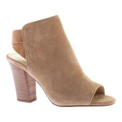 Women's Nine West Zofee Block Heel Open Toe Shootie Natural Suede