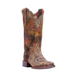 Women's Dan Post Boots Margie Broad Square Toe Cowboy Boot DP3949 Tan Leather