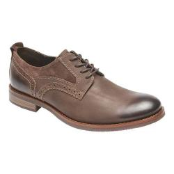Men's Rockport Wynstin Plain Toe Oxford Dark Bitter Chocolate Leather