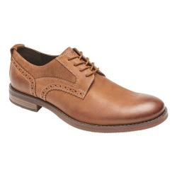 Men's Rockport Wynstin Plain Toe Oxford Tobacco Leather