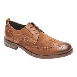 Men's Rockport Wynstin Wing Tip Brogue Tobacco Leather