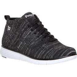 Women's Propet TravelFit High Top Black Metallic Mesh