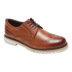 Men's Rockport Marshall Wing Tip Oxford Cognac Leather