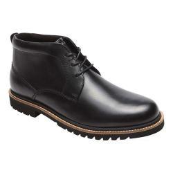 Men's Rockport Marshall Chukka Boot Black Leather