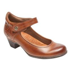 Women's Rockport Cobb Hill Abbott Ankle Strap Mary Jane Almond Full Grain Leather