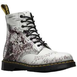 Dr. Martens Pascal 8-Eye Boot Black and White Demented Are Go Backhand