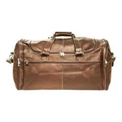 David King Leather 8305 Deluxe Extra Large Multi-Pocket Duffel Cafe