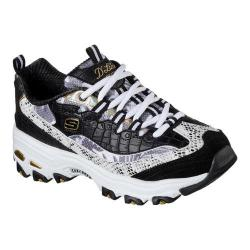Women's Skechers D'Lites Runway Ready Sneaker Black/White/Gold