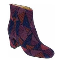 Women's Bellini Glamour Patchwork Boot Wine/Blue Brocade Fabric