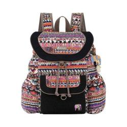 Women's Sakroots Artist Circle Flap Backpack Camel One World Canvas