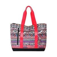 Women's Sakroots New Adventure Finch Large Tote Camel One World