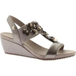 Women's Anne Klein Cassie T-Strap Wedge Sandal Metallic Taupe/Metallic Taupe Synthetic