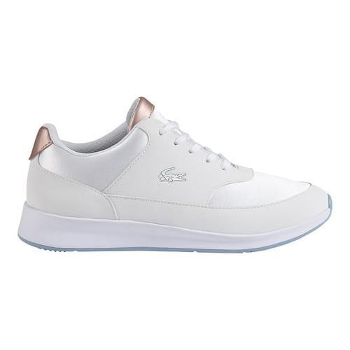 ca1be4e47e89 Shop Women s Lacoste Chaumont Lace Sneaker White Textile - Free Shipping  Today - Overstock - 16775812