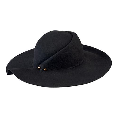 Women s San Diego Hat Company Pleated Crown Floppy Hat WFH8057 Black - Free  Shipping Today - Overstock - 23083756 341638b683b8