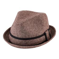 Men's San Diego Hat Company Tweed Fedora with Contrast Trim SDH9446 Brown