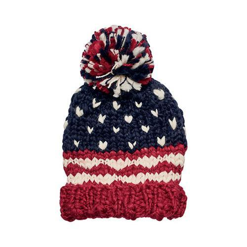 3066124072d Shop Women s San Diego Hat Company Crochet Knit Americana Beanie KNH3453  Red - Free Shipping On Orders Over  45 - Overstock - 16775967