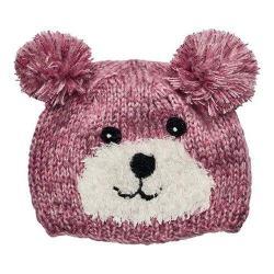 Children's San Diego Hat Company Bear Knit Beanie with Pom Pom KNK3505 Pink
