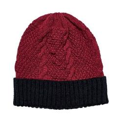 Women's San Diego Hat Company Cable Knit Beanie with Cuff KNH3449 Red