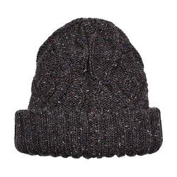Women's San Diego Hat Company Cable Knit Beanie with Cuff KNH3456 Brown