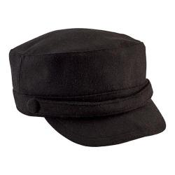 Women's San Diego Hat Company Cadet Cap with Self Button CTH8096 Black