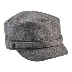 Women's San Diego Hat Company Cadet Cap with Self Button CTH8096 Grey