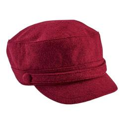 Women's San Diego Hat Company Cadet Cap with Self Button CTH8096 Wine