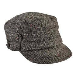Women's San Diego Hat Company Cadet Speckled Tweed Newsboy Cap CTH8063 Black