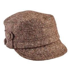 Women's San Diego Hat Company Cadet Speckled Tweed Newsboy Cap CTH8063 Brown