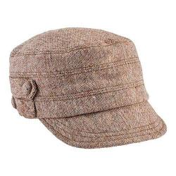Women's San Diego Hat Company Cadet Speckled Tweed Newsboy Cap CTH8063 Camel