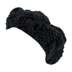 Women's San Diego Hat Company Crochet Knit Cable Beret KNH3473 Black