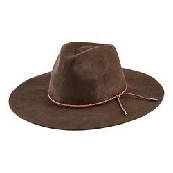 Women's San Diego Hat Company Floppy Fedora with Braided Trim WFH8047 Brown
