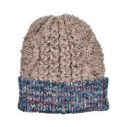 Women's San Diego Hat Company Knit Beanie with Contrast Yarn Cuff KNH3465 Tan